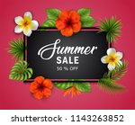 summer sale banner with... | Shutterstock . vector #1143263852