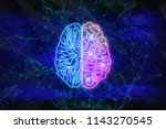 creative digital brain... | Shutterstock . vector #1143270545