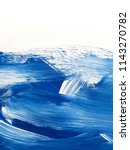 Blue And White Art Painting...