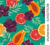 seamless pattern with beautiful ... | Shutterstock .eps vector #1143273158