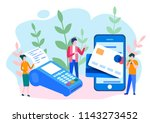concept online and mobile... | Shutterstock .eps vector #1143273452