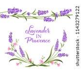 frame of lavender flowers on a... | Shutterstock .eps vector #1143279122