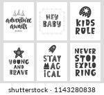 vector scandinavian style... | Shutterstock .eps vector #1143280838