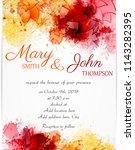 wedding invitation template... | Shutterstock . vector #1143282395