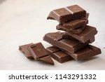 milk chocolate chopped close up   Shutterstock . vector #1143291332