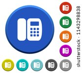 office phone round color... | Shutterstock .eps vector #1143298838