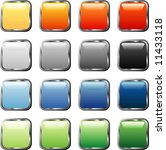 vector square buttons with... | Shutterstock .eps vector #11433118