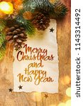 christmas and new year holidays ... | Shutterstock . vector #1143314492
