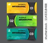 infographics template 3 options ... | Shutterstock .eps vector #1143318488