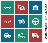 automobile icon. collection of... | Shutterstock .eps vector #1143325355
