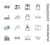 heavy icon. collection of 16...   Shutterstock .eps vector #1143325502