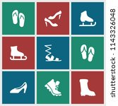 footwear icon. collection of 9... | Shutterstock .eps vector #1143326048