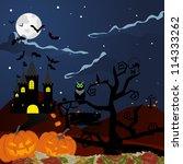 happy halloween theme greeting... | Shutterstock .eps vector #114333262