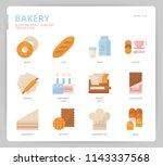 bakery icon set | Shutterstock .eps vector #1143337568