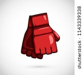 pair of mma gloves. mix martial ... | Shutterstock .eps vector #1143339338