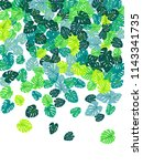 sea green tropical jungle... | Shutterstock .eps vector #1143341735