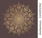mandala vector design element.... | Shutterstock .eps vector #1143351542
