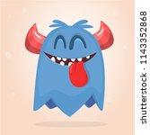 cartoon red monster. vector... | Shutterstock .eps vector #1143352868