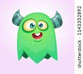 happy cool cartoon fat flying... | Shutterstock .eps vector #1143352892