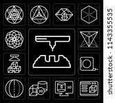 set of 13 simple editable icons ... | Shutterstock .eps vector #1143355535