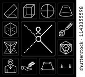 set of 13 simple editable icons ... | Shutterstock .eps vector #1143355598