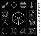 set of 13 simple editable icons ... | Shutterstock .eps vector #1143355622