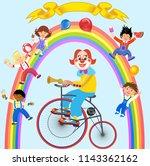 clowns and children | Shutterstock . vector #1143362162