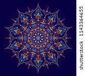mandala vector design element.... | Shutterstock .eps vector #1143364655