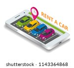 renting a new or used car. car... | Shutterstock . vector #1143364868