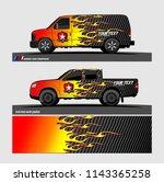 car decal  truck and cargo van... | Shutterstock .eps vector #1143365258
