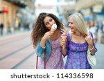 Two Teen Woman Friends Having...