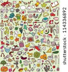 big doodle icons set  ... | Shutterstock .eps vector #114336892
