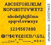 slab serif alphabet set for... | Shutterstock .eps vector #1143374615