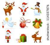 christmas icons | Shutterstock .eps vector #114337876
