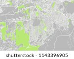 vector map of the city of... | Shutterstock .eps vector #1143396905