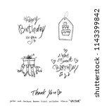 handwritten calligraphy  ... | Shutterstock .eps vector #1143399842