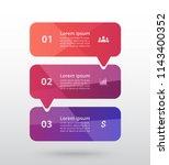 vector lines arrows infographic.... | Shutterstock .eps vector #1143400352