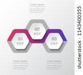 infographic design elements for ... | Shutterstock .eps vector #1143400355