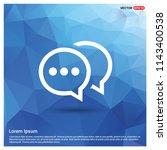 speech bubble icon   vector icon | Shutterstock .eps vector #1143400538