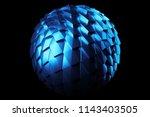 3d render metal isolated ... | Shutterstock . vector #1143403505
