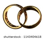 connected rings. photo realism  ... | Shutterstock . vector #1143404618