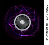 abstract design music speaker ... | Shutterstock .eps vector #114340522