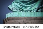 the size 879 foot of the statue ... | Shutterstock . vector #1143407555