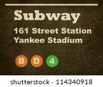 grunge yankee stadium subway... | Shutterstock . vector #114340918