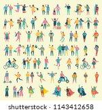 vector illustration in a flat... | Shutterstock .eps vector #1143412658