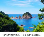 scenery of shirawara coastline  ...   Shutterstock . vector #1143413888