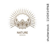 nature abstract logo of... | Shutterstock .eps vector #1143414968
