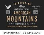 """american mountains"". original ... | Shutterstock .eps vector #1143416648"