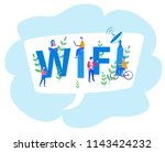 concept people in wi fi zone....   Shutterstock .eps vector #1143424232