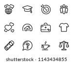 set of black vector icons ...   Shutterstock .eps vector #1143434855